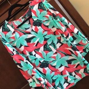 Talbots floral blouse XL